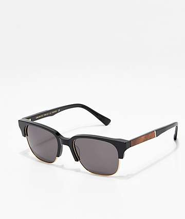 Shwood Newport Black & Mahogany Sunglasses