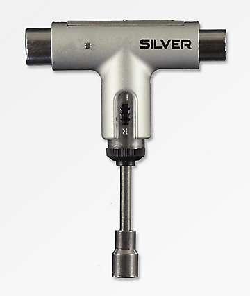 Silver Trucks herramienta de skate plateada metálica