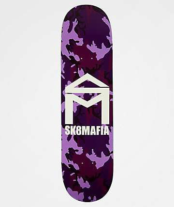 "Sk8Mafia Purple Camo 8.0"" Skateboard Deck"