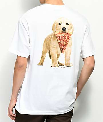 Skate Mental Pizza Dog camiseta blanca