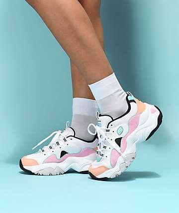 Skechers D'Lites 3.0 Wavy zapatos de ante multicolor