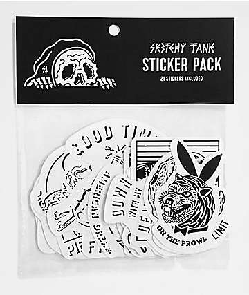 Sketchy Tank 21 Sticker Pack