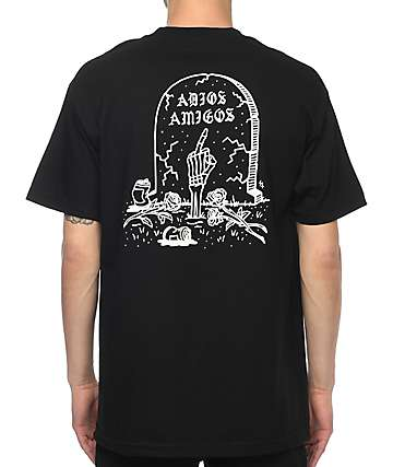 Sketchy Tank Adios camiseta negra
