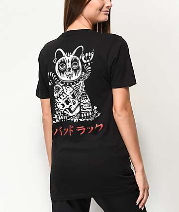 Sketchy Tank Bad Luck Black T-Shirt