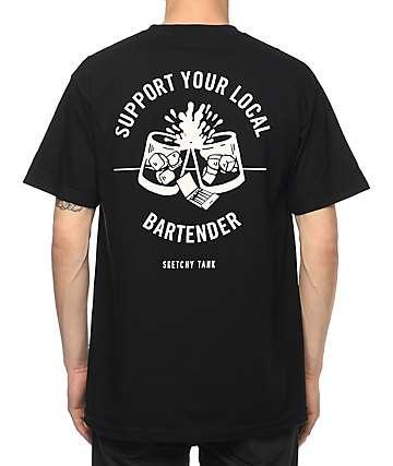 Sketchy Tank Bartender Black T-Shirt