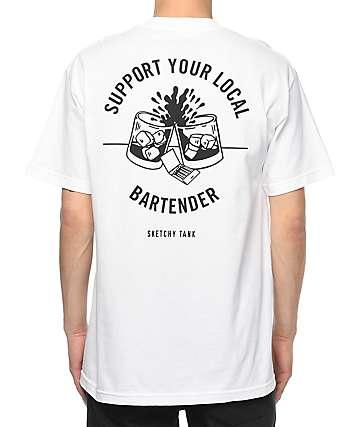 Sketchy Tank Bartender White T-Shirt