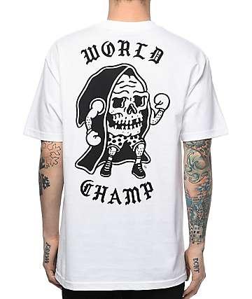 Sketchy Tank Champ White T-Shirt