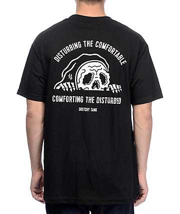 Sketchy Tank Comfort Black T-Shirt