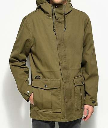 Sketchy Tank Dan Olive Twill Parka Jacket