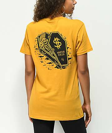 Sketchy Tank Dollars Gold T-Shirt