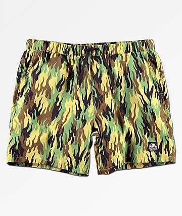 Sketchy Tank Fuegoflage Board Shorts