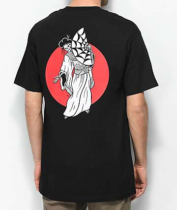 Sketchy Tank Geisha camiseta negra