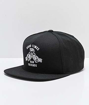 Sketchy Tank Good Times Black Snapback Hat