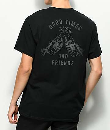Sketchy Tank Good Times Reflective Black T-Shirt