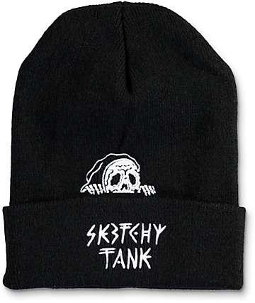 Sketchy Tank Lurk Black Beanie