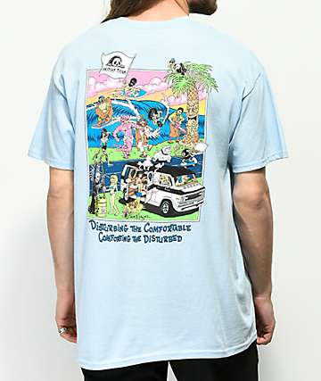 Sketchy Tank Lurking Class Beach camiseta azul claro