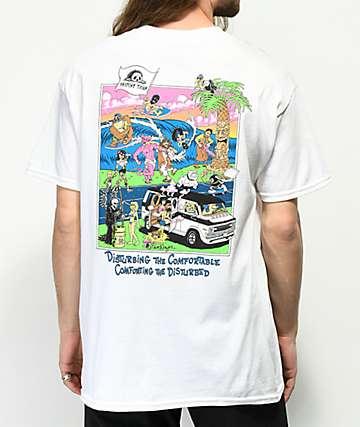 Sketchy Tank Lurking Class Beach camiseta blanca