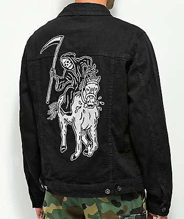 Sketchy Tank Lurking Class Black Denim Jacket