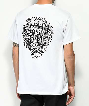Sketchy Tank Lurking Class Hellcat White T-Shirt