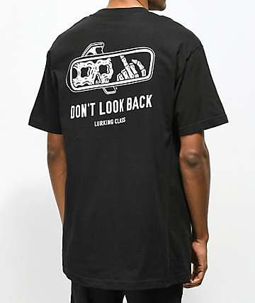 Sketchy Tank Lurking Class Look Back Black T-Shirt