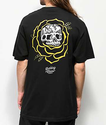 Sketchy Tank Lurking Class Rose Black T-Shirt