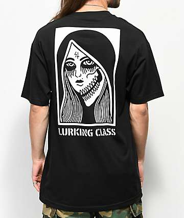 Sketchy Tank Lurking Class Two Faced Black T-Shirt