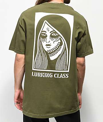 Sketchy Tank Lurking Class Two Faced Green T-Shirt