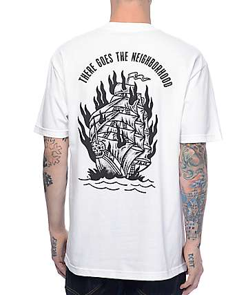 Sketchy Tank Neighborhood White T-Shirt