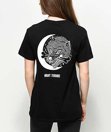 Sketchy Tank Night Terrors Black T-Shirt