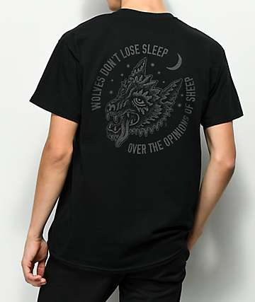 Sketchy Tank Opinions Reflective Black T-Shirt