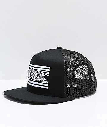 Sketchy Tank Peeking Black Trucker Hat
