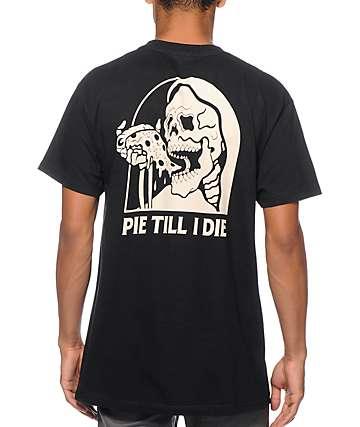 Sketchy Tank Pie Black T-Shirt