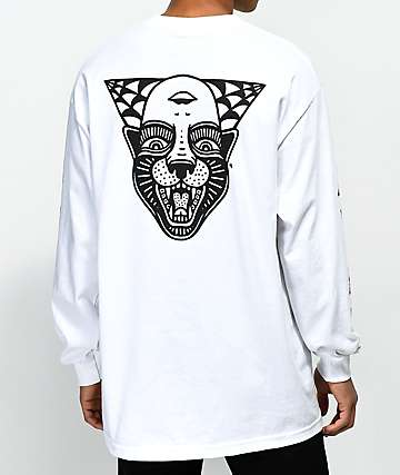 Sketchy Tank Power White Long Sleeve T-Shirt