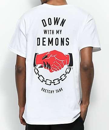 Sketchy Tank Redrum Down With My Demons camiseta blanca