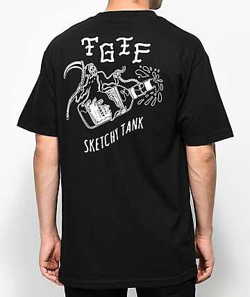 Sketchy Tank TGIF Black T-Shirt