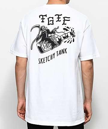 Sketchy Tank TGIF White T-Shirt