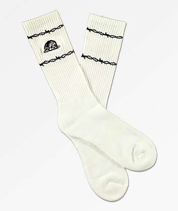 Sketchy Tank Wired White Crew Socks
