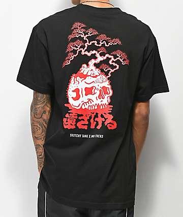 Sketchy Tank x Mr. Tucks Lurking Class Bonsai Black & Red T-Shirt