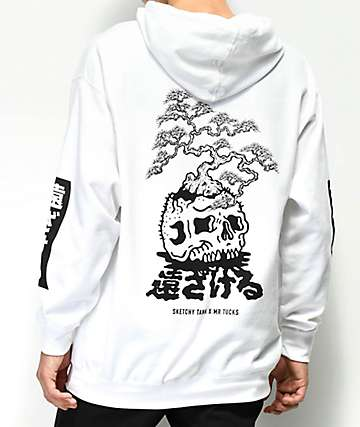 Sketchy Tank x Mr. Tucks Lurking Class White Hoodie