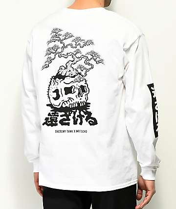 Sketchy Tank x Mr. Tucks Lurking Class White Long Sleeve T-Shirt