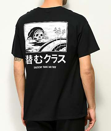 Sketchy Tank x Mr. Tucks Lurking Class camiseta negra