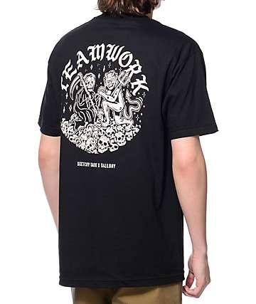 Sketchy Tank x Tallboy Teamwork camiseta negra