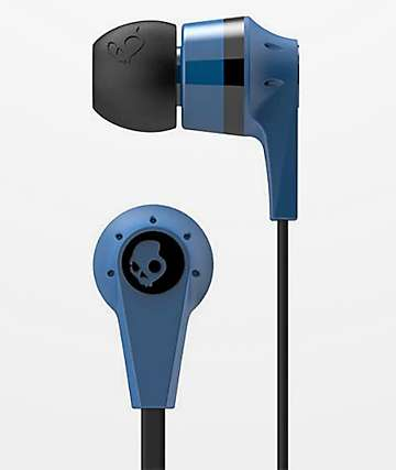 Skullcandy Ink'd  2.0 Mic'd auriculares en negro y azul