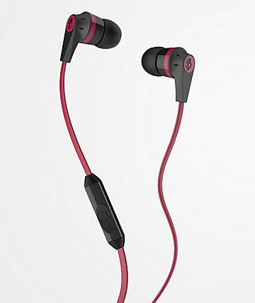 Skullcandy Ink'd 2.0 MICD Black & Red Earbuds