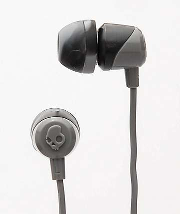 Skullcandy Jib Grey Swirl & Black Earbuds