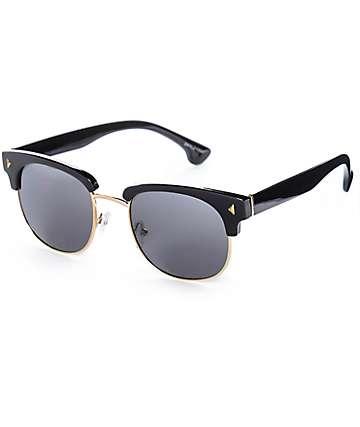 Skylar Black & Gold Retro Sunglasses