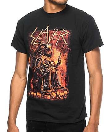 Slayer Devil On Throne camiseta negra