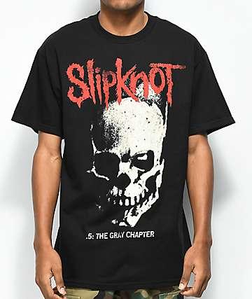 Slipknot The Gray Chapter Skull & Tribal Black T-Shirt