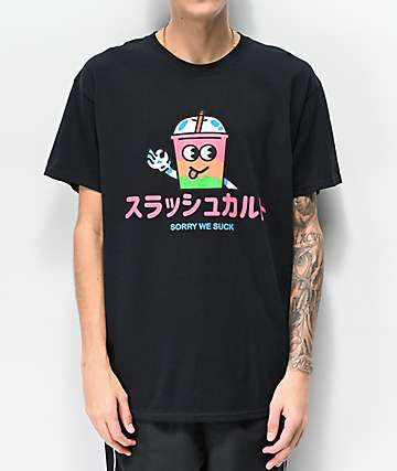 Slushcult Anime Black T-Shirt