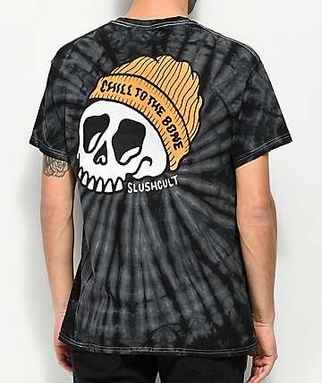Slushcult Chill To The Bone Black Tie Dye T-Shirt